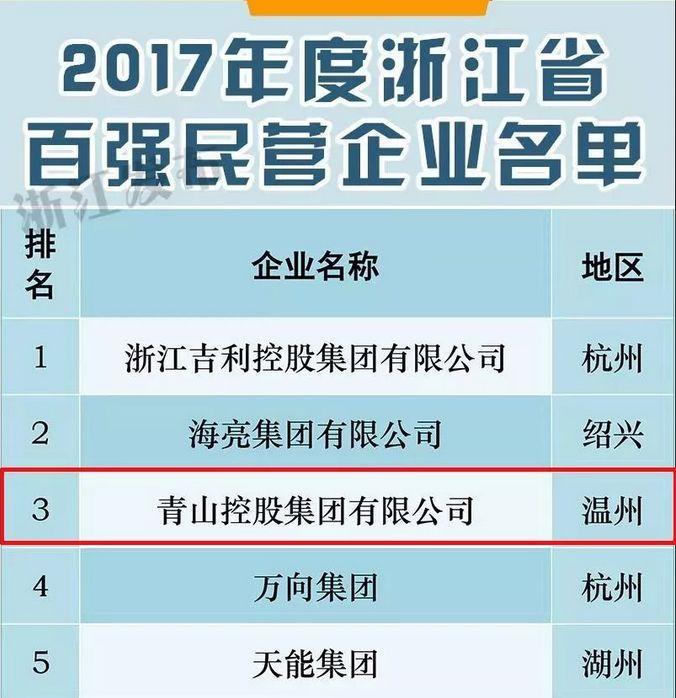 青山控股集团是最牛的温州民企 直逼沙钢!(图1)